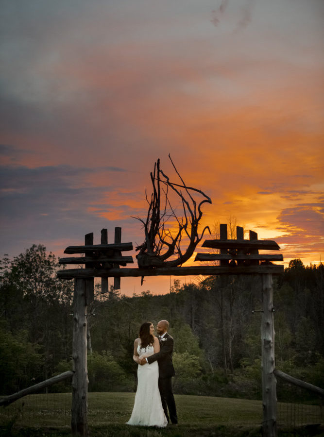 Epic Sunset at Special Event Centre Wedding