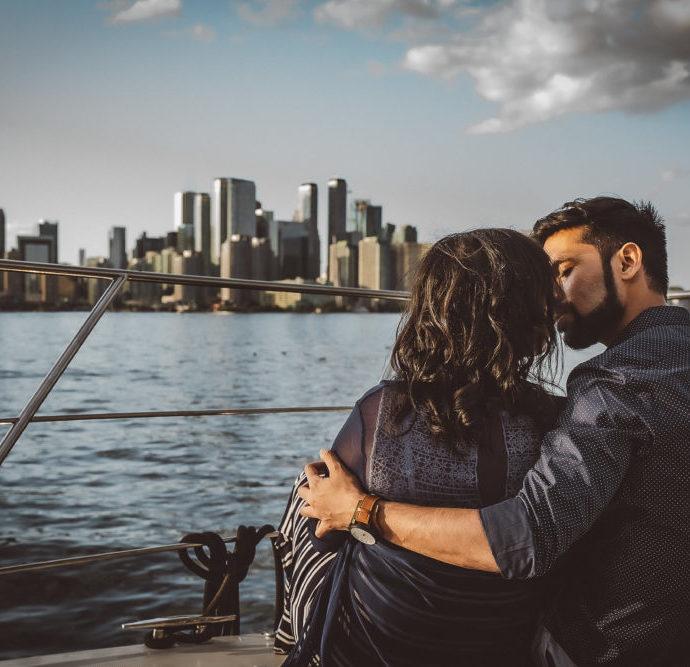 Toronto Harbour Cruise Engagement Photographer