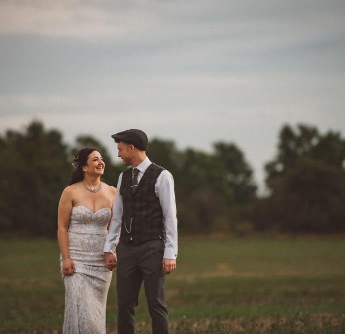Markdale Farm Wedding with Fields of Birds